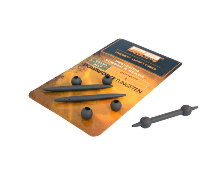 PB Downforce Tungsten Heli Chod Rubber & Beads Weed