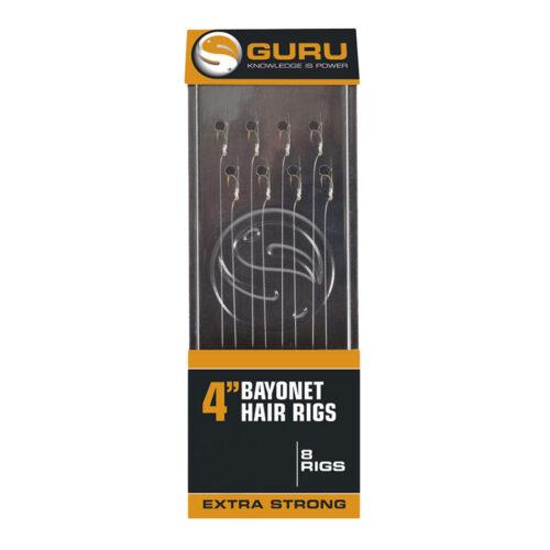"Guru Bayonet Hair Rigs 4"" 0.19mm #16"