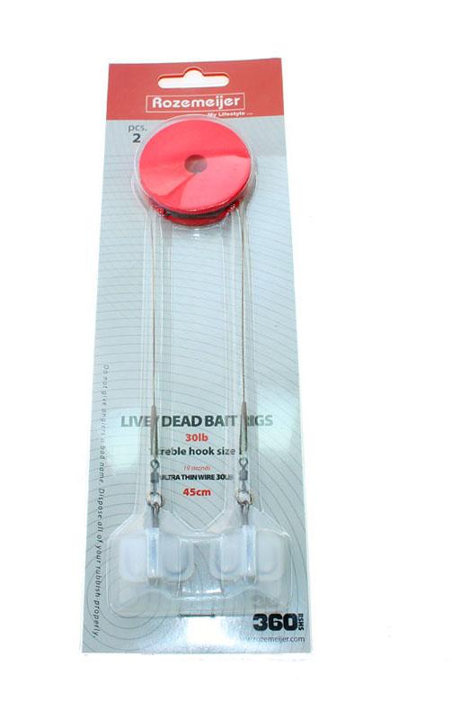 Rozemeijer Live/Deadbait Rigs 30lb Size 2 45 cm