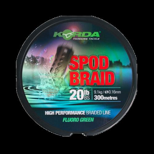 KSPB Korda Spod Braid 0,16mm 300m Fluoro Green