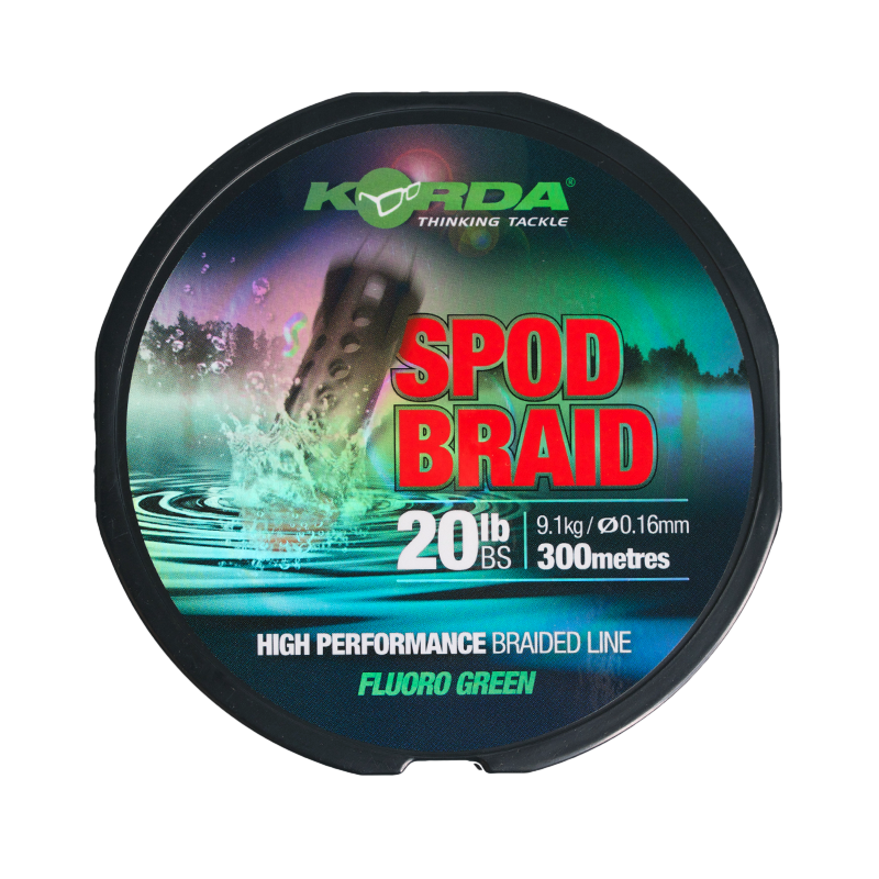 KSPB Korda Spod Braid 0,16mm 300m Fluoro Green