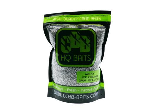 CBB HQ Baits Milky Ice Cream Pellet 3mm 1kg