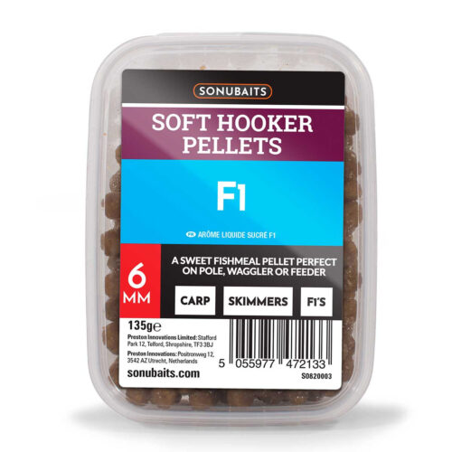 Sonubaits Soft Hooker Pellets F1 6mm - 135gr