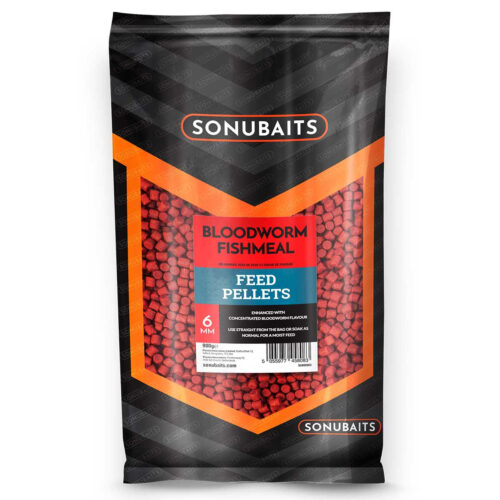 Sonubaits Bloodworm Fishmeal Feed Pellets 6mm - 900gr