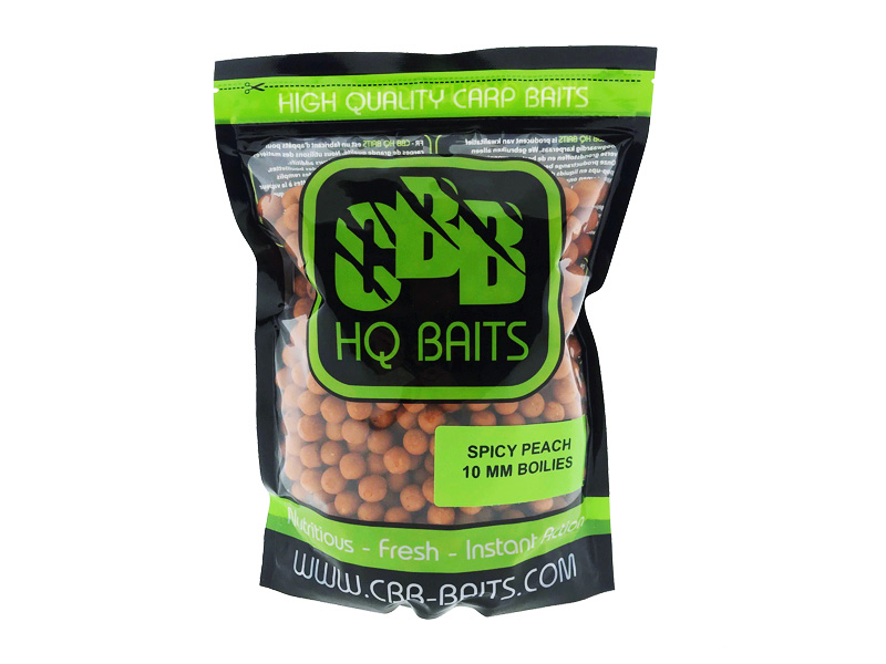 CBB HQ Baits Spicy Peach 10mm Boilie 1kg
