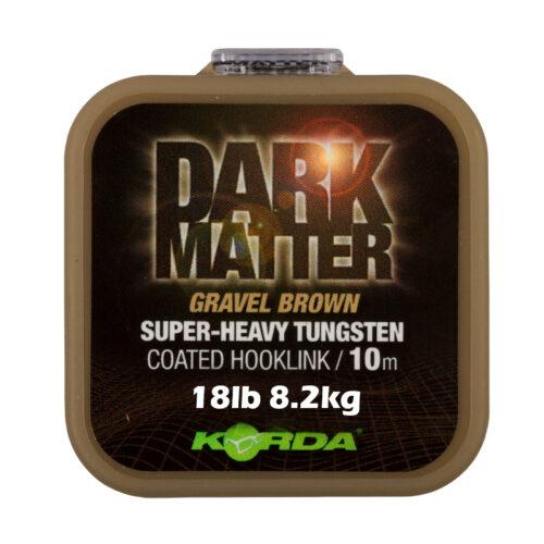 Korda Dark Matter Coated Hooklink Gravel Brown 18lb