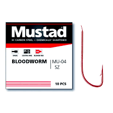 Mustad Bloodworm MU-04 10pcs