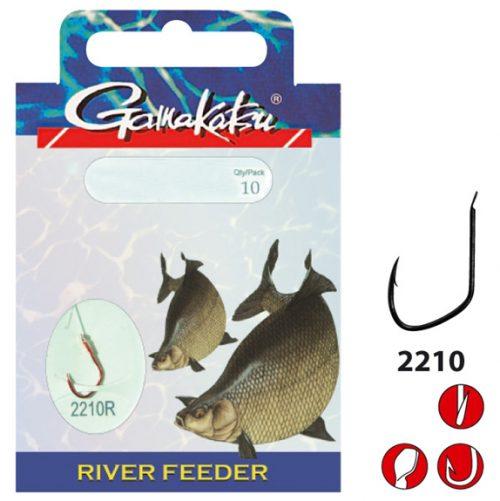 Gamakatsu River Feeder 2210R - Lijn lengte 100 cm