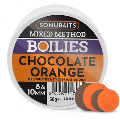 S0810049 Sonubaits Mixed Method Boilies Choco Orange 8&10 mm