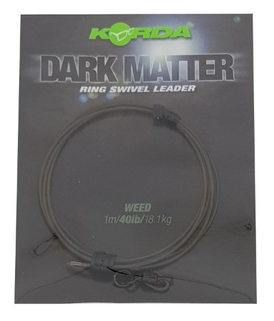 Korda Dark Matter Ring Swivel Leader1m/40lbs