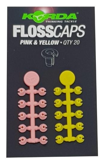 Korda Floss Caps Pink & Yellow