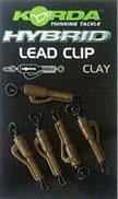 Korda Hybrid Lead Clip Clay 8pcs