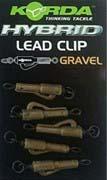 Korda Hybrid Lead Clip Gravel 8pcs