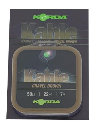Korda Kable Leadcore Gravel 7m