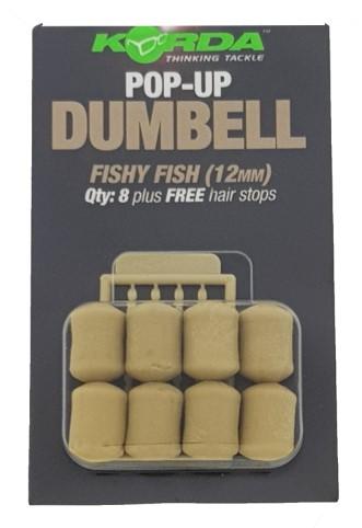 Korda Pop-Up Dumbell Fishy Fish 12mm