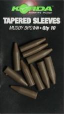 Korda Tapered Sleeves Muddy Brown 10pcs