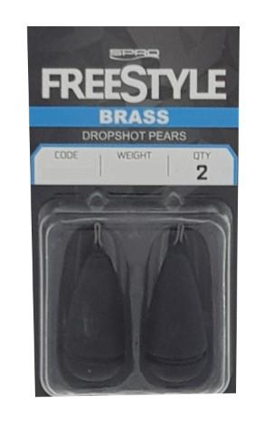 Spro Freestyle Dropshot Pear Brass 2pcs